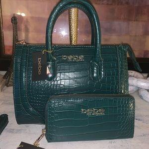 NWT Bebe set of purse & wallet